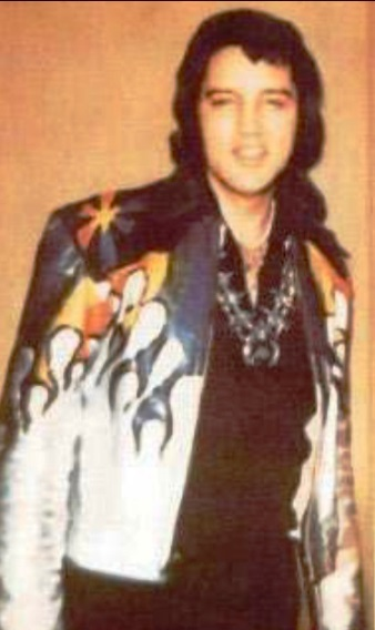 Elvis Wearing Eagle Jacket