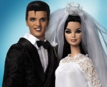 Elvis and Priscilla Barbie Doll Collector Set