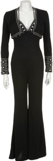 Linda Thompson Black Jumpsuit