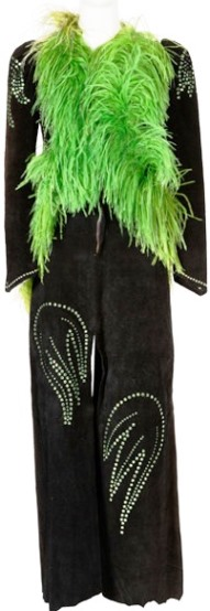 Linda Thompson Green Feather' Ensemble