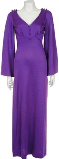 Linda Thompson Purple Dress