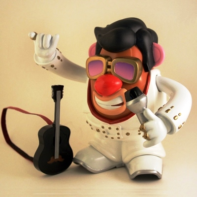 Mr Potatohead Jumpsuit Elvis with Black Guitar