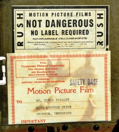 Address Label 16mm Film of Love Me Tender and Acetate