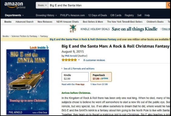 Big E and the Santa Man Amazon Page