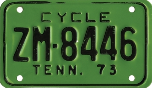Elvis Presley 1973 Tennessee Motorcycle License Plate