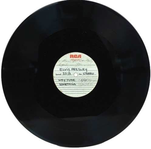 "Elvis Presley Original Acetate of Beatles Songs ""Hey Jude"" and ""Something"""