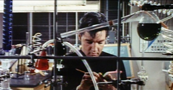 Elvis Presley in the lab in Clambake
