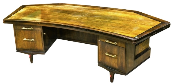 Elvis Presley's Personal Massive Wooden Desk from His Home Office in Palm Springs