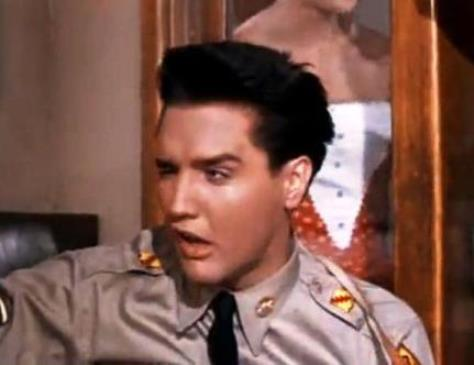 Elvis Weird Face in GI Blues