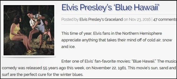 Graceland Blog Blue Hawaii