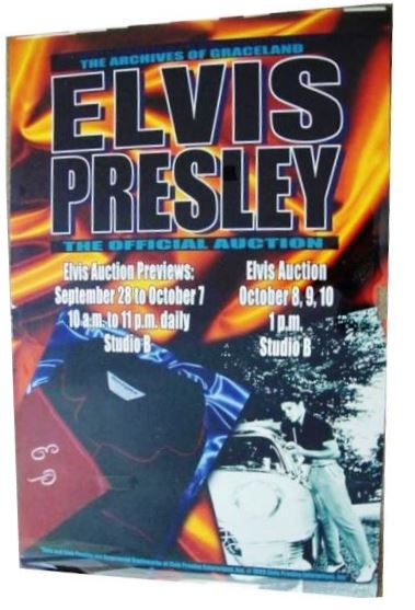 Poster for the Archives of Graceland Auction