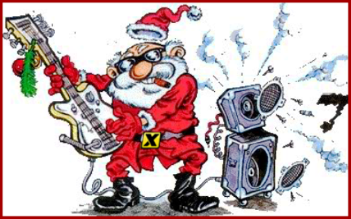 Santa Blowing up the Speakers