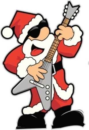 Santa Playing Flying V Guitar