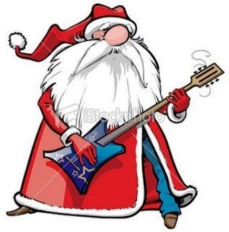 Santa Playing Guitar 2