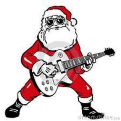 Santa Playing Guitar 3