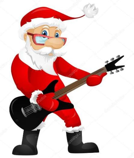 Santa Playing Guitar 4