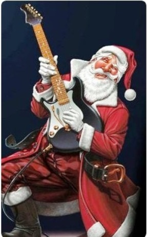 Santa the Bluesman