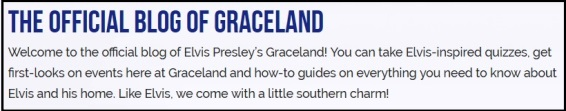 The Official Blog of Graceland