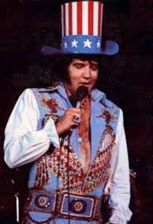 Elvis in Uncle Sam Hat 1976 Atlanta
