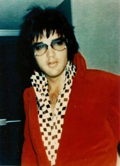 Elvis with a Rod Stewart Hairdo