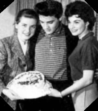 Elvis Birthday Cake During King Creole 1958