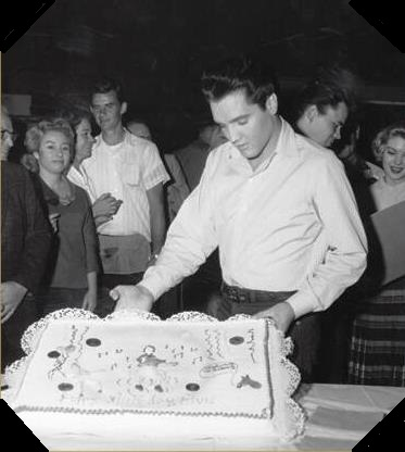 Elvis Birthday Cake During Wild in The Country 1961