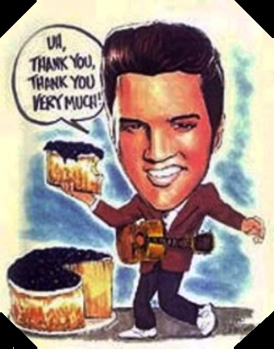 Elvis Cake Cartoon