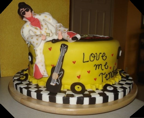 Elvis Presley Love me Tender Cake