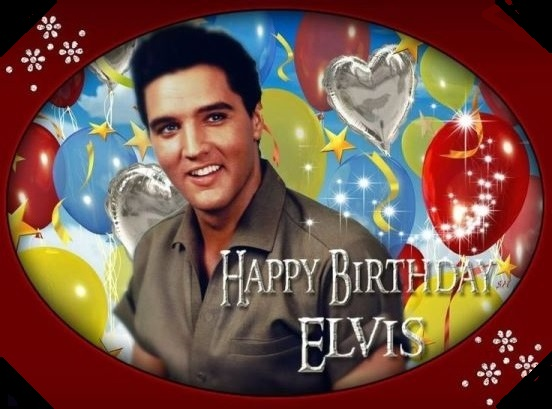 Elvis and Baloons Happy Birthday