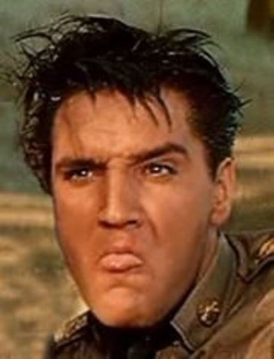 Elvis Making a Face in G.I. Blues