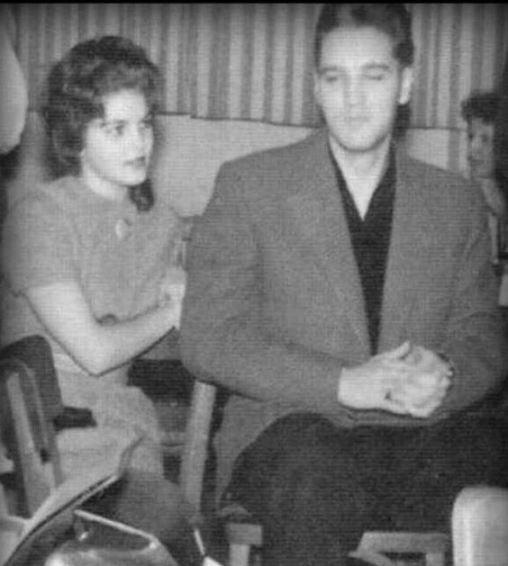 14-year-old Priscilla and Elvis met while doing his service in Germany