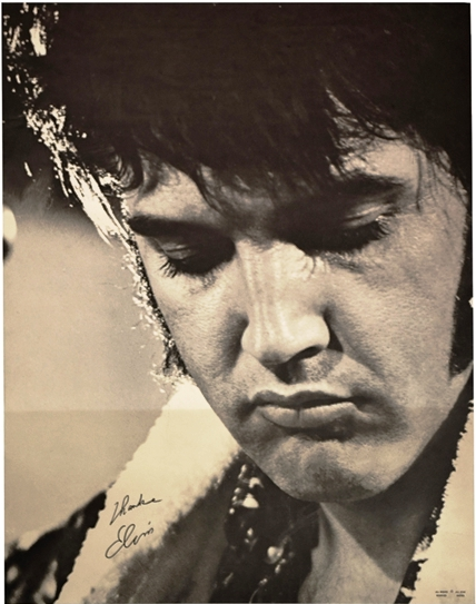 1970 Elvis Presley Black-and-White Souvenir Poster 2