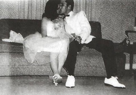 Elvis Kissing Dixie Locke - May 6, 1955