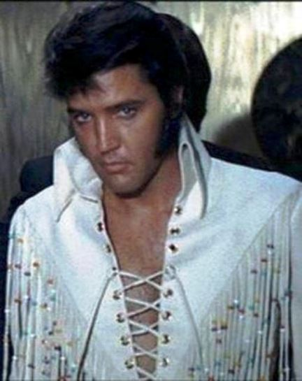 Handsome Elvis in Fringe Jumpsuit