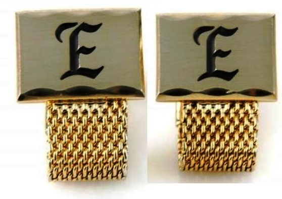 A pair of Elvis Presley cufflinks by Hickok