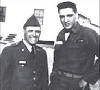 Charlie Hodge and Elvis in the Army