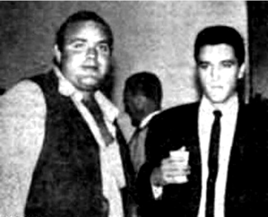Dan Blocker and Elvis