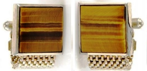 ELVIS PRESLEY TIGER EYE CUFFLINKS