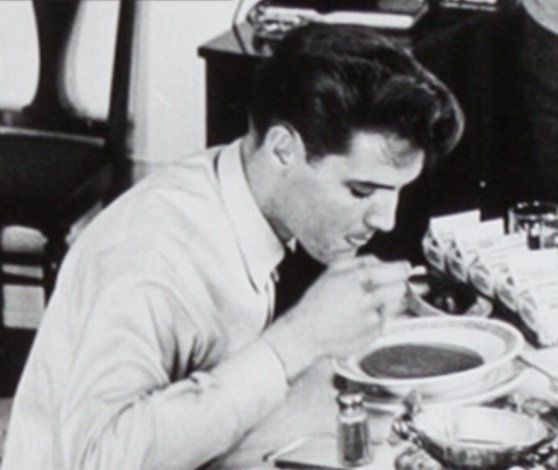 Elvis Eating Soup on the Way Home from the Army 1961