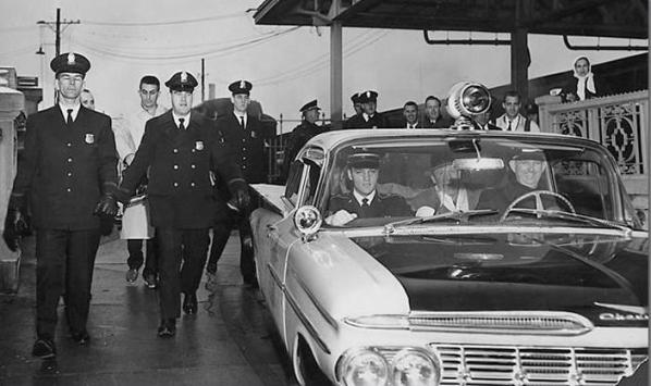 Elvis Getting Police Escort in Memphis