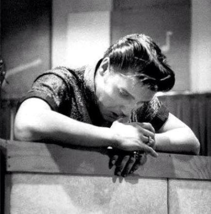 Elvis Pondering Nashville recording session in April 14, 1956