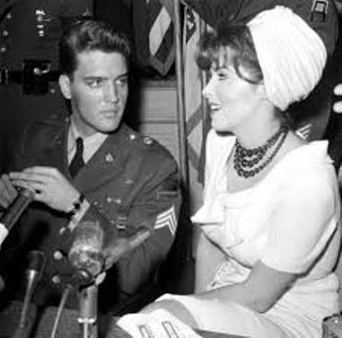 Elvis Presley and Tina Louise at Discharge Press Conference