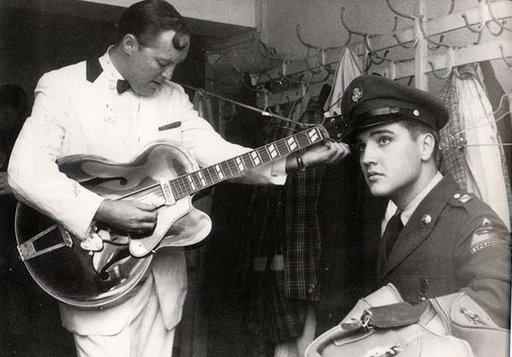 Elvis Visiting Bill Haley in Stuttgart 1959