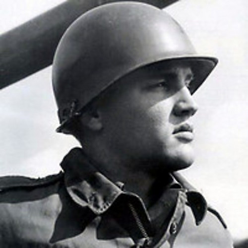 Elvis Wearing Army Helmet