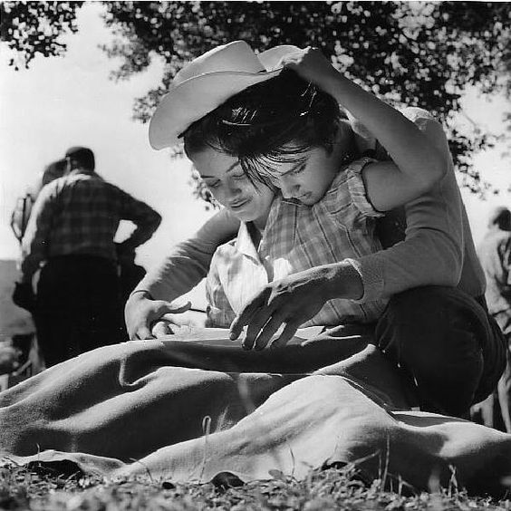 Elvis and Dolores Hart at set of Loving you 1957. She was the first woman who kisses Elvis Presley in a film
