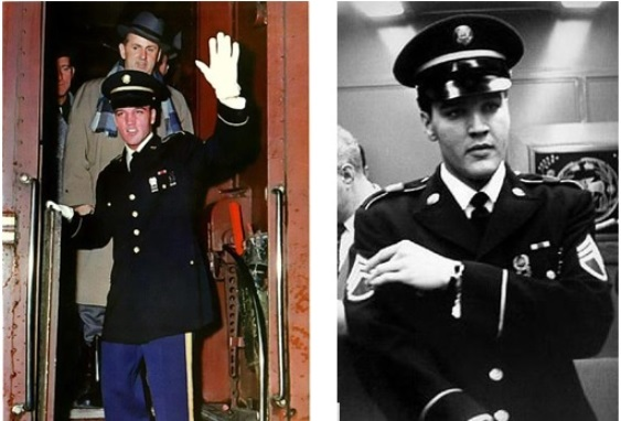 Elvis in Custom Army Uniform after Discharge