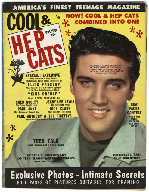 Elvis on Cover of Cool Hep Cats