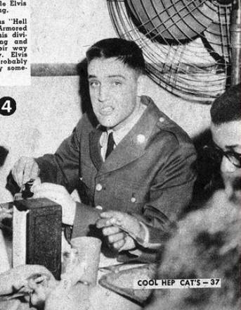 Elvis with Army Haircut