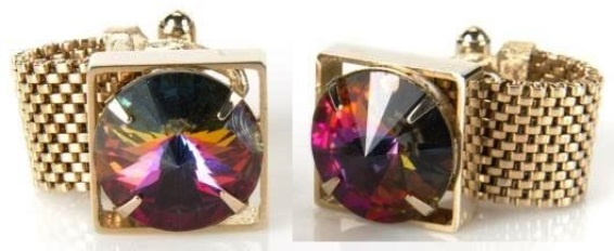 Elvis' FAUX GEM CUFFLINKS