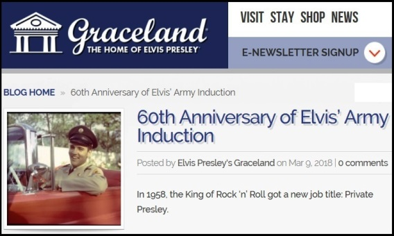 Graceland Blog - 60th Anniversary of Elvis' Induction into the Army